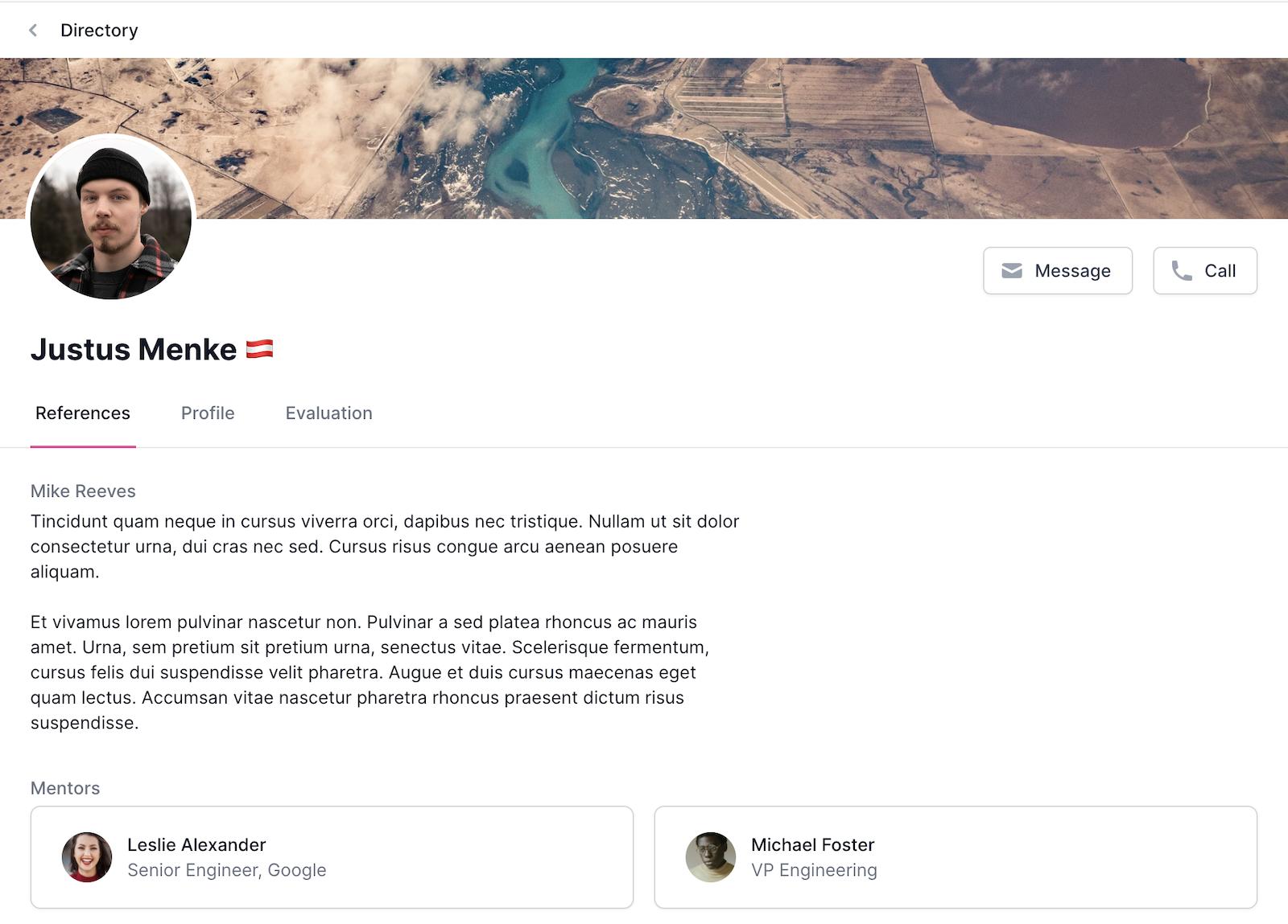 User profile directory